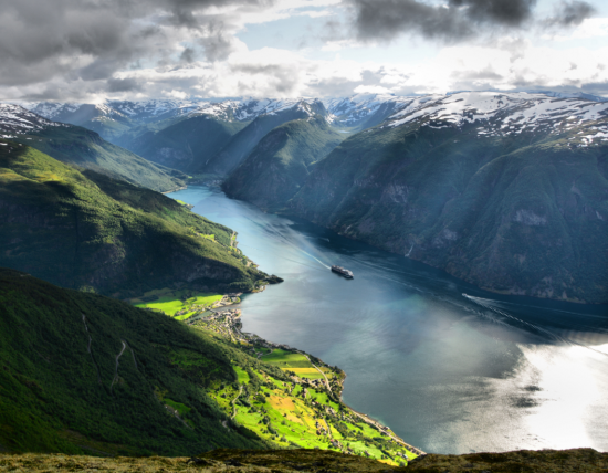 Dramatic landscapes will take your breath away when cruising in Norway.