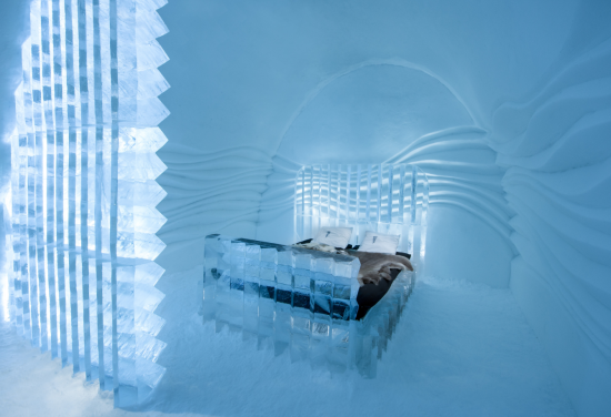 Experience a memorable;le night at a Swedish ice hotel.