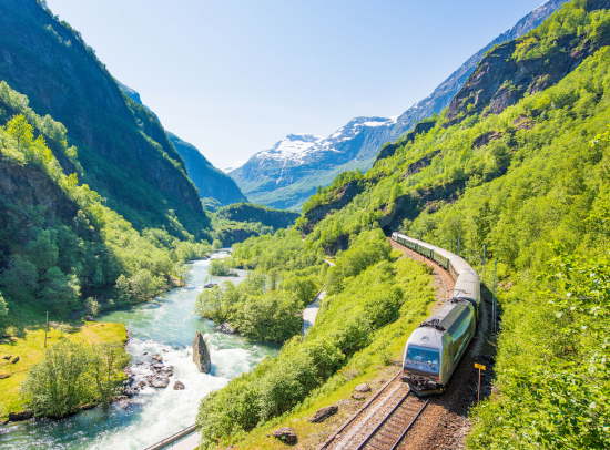 Watch the landscape roll by in the comfort of your rail carriage.