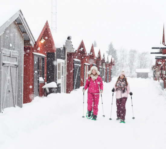 Snow shoeing in Sweden
