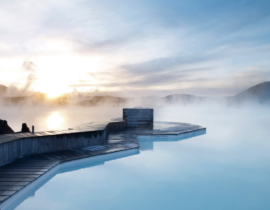 The Blue Lagoon thermal pool in Iceland is tempting.