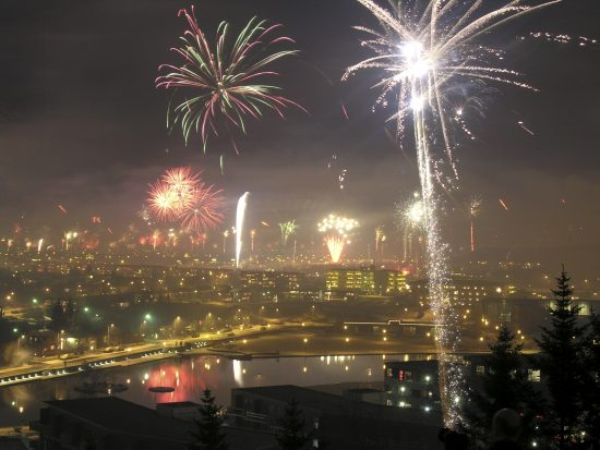 New Year's Eve in Reykjavík.