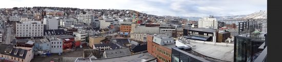 Aerial view of Tromso, the Gateway to the Arctic Circle (photo credit Karen Kerr)