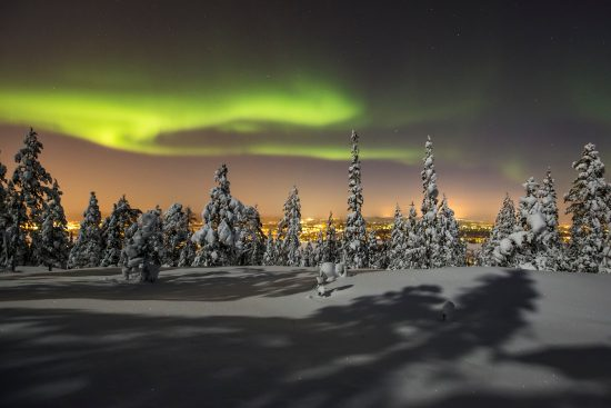 Northern Lights, Rovaniemi can be seen from October to early April, dependant on weather conditions (photo credit Visit Rovaniemi)