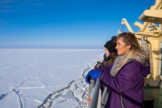 Admiring the view from Icebreaker Sampo (Kemi Tourism)